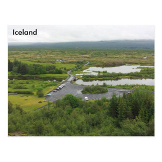 Þingvellir Nationalpark, Island - UNESCO Postkarte