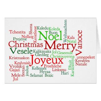 გილოცავთშობა! Frohe Weihnachten in georgischem Rf Grußkarte
