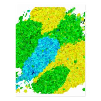 ブラジルカラー泡模様タイプ Brasilien-Farbschaummuster Postkarte