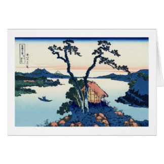 信州諏訪湖, 北斎 Ansicht der Fujisan vom See Suwa, Karte