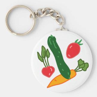 新鮮でおいしい野菜のイラストグッズ Fresh and delicious vegetables o Schlüsselanhänger