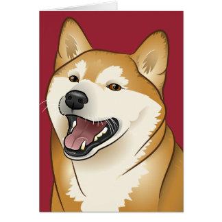 柴犬 alles Gute zum Geburtstag Shiba Inu Hundekarte Grußkarte