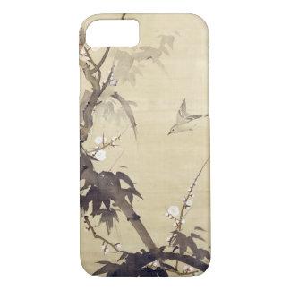 竹に鳥, 其一 Vogel und Bambus, Kiitsu, Japan-Kunst iPhone 7 Hülle