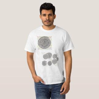 色のついた算数曼荼羅・Tシャツ T-Shirt