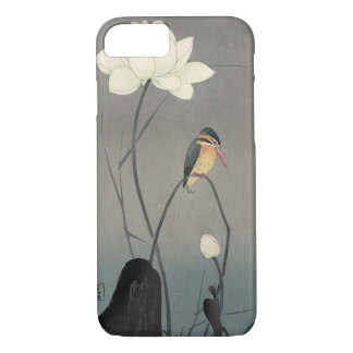 蓮にカワセミ, martin-pêcheur de 古邨 sur Lotus, Koson, Coque iPhone 7