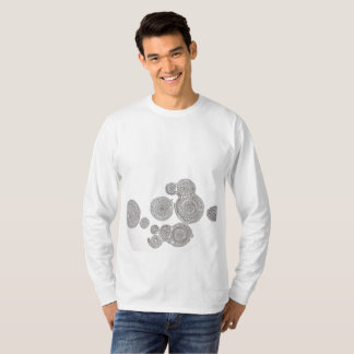 象の並んだ長袖シャツ T-Shirt