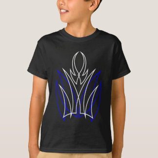 0001 Nadelstreifen Azul-Blanco T-Shirt