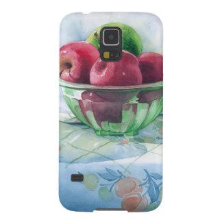 0002 Äpfel in der grünen Glasschüssel Samsung Galaxy S5 Cover