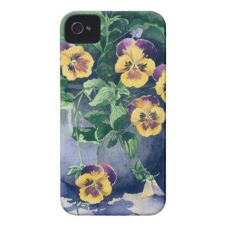 0011 Stiefmütterchen im Pflanzer iPhone 4 Case-Mate Hüllen