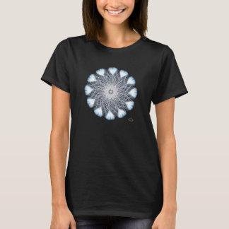 0101 Weiß-Pfau 2, kurzer Hülsen-Nano-T - Shirt