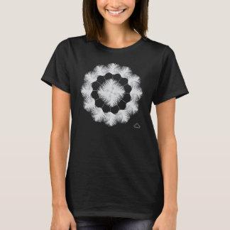 0101 Weiß-Pfau 4, kurzer Hülsen-Nano-T - Shirt