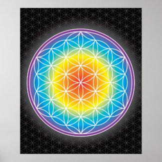 01 LUMINENCE - Fleur de la vie Affiches