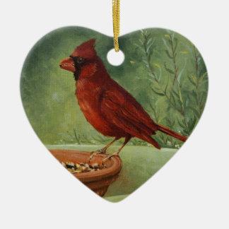 0487 Kardinal Onament Keramik Ornament