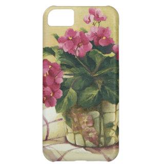 0511 Usambaraveilchen im Mosaik-Pflanzer iPhone 5C Hülle