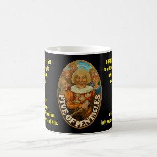 05. Fünf von Pentagrammen - Seemann-Tarot Kaffeetasse