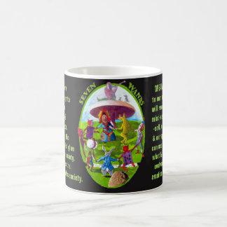 07. Sieben von Wands - Alice-Tarot Kaffeetasse