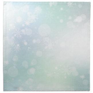 08 Winter-Mehrfarbenschneeflocken Stoffserviette