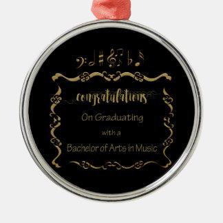 09066Bachelors von Künsten in der Musik schloss ab Silbernes Ornament