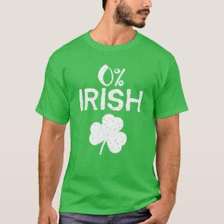 0% Iren - lustiger Tag St. Patricks T-Shirt