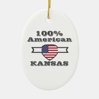100% Amerikaner, Kansas Keramik Ornament