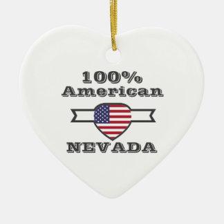100% Amerikaner, Nevada Keramik Herz-Ornament