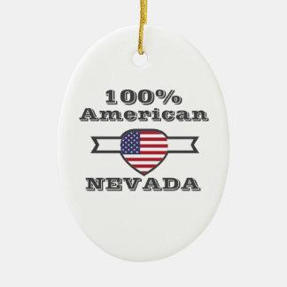 100% Amerikaner, Nevada Ovales Keramik Ornament