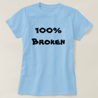 100% defektes Blau T-Shirt