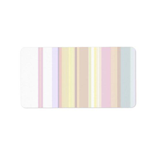 100 dünn: Künstlerische weiche Farbmuster Adressaufkleber