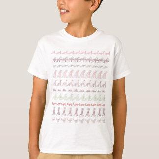 100 Hand gezeichnete Dinosaurier T-Shirt