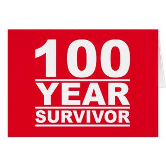 100-jähriger Überlebender Karte