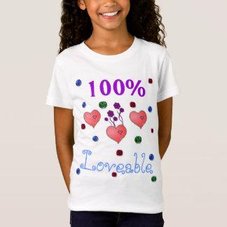 100% liebenswürdiger Mädchen-T - Shirt