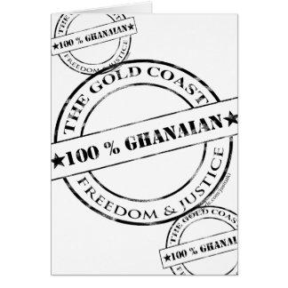 100 Prozent ghanaisch Grußkarte
