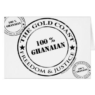 100 Prozent ghanaisch Karte