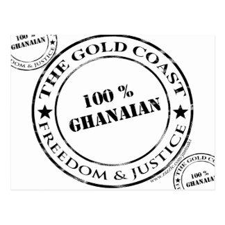 100 Prozent ghanaisch Postkarte