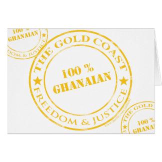 100 Prozent ghanaische Gelb Karte