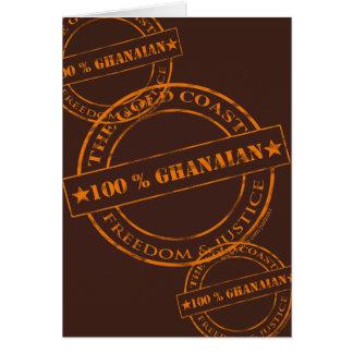 100-Prozent-ghanaische Orange Karte