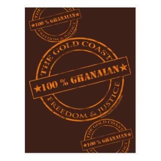 100-Prozent-ghanaische Orange Postkarte