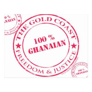 100 Prozent ghanaische Rot Postkarte