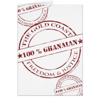 100 Prozent ghanaische Sangria Grußkarte