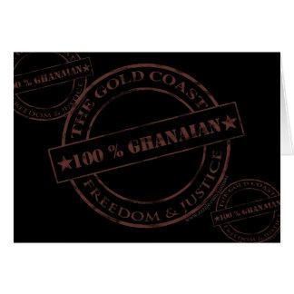 100 Prozent ghanaische Schokolade Karte