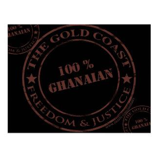 100 Prozent ghanaische Schokolade Postkarte
