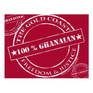 100 Prozent ghanaische Weiß Postkarte