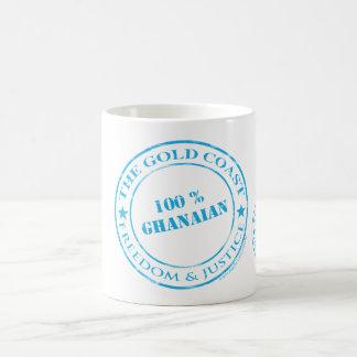 100-Prozent-ghanaisches Blau Kaffeetasse
