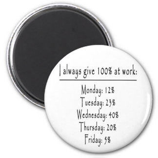 100 Prozent im Büro Magnete