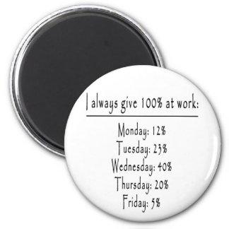 100 Prozent im Büro Runder Magnet 5,1 Cm