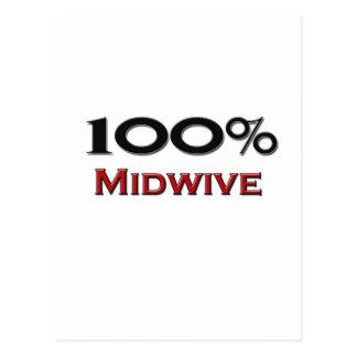 100 Prozent Midwive Postkarte