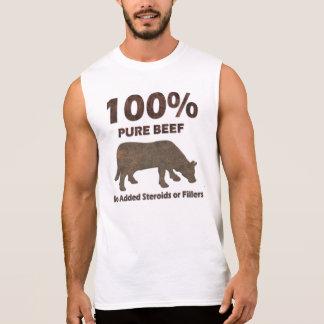 100% reines Rindfleisch keine Steroide Ärmelloses Shirt