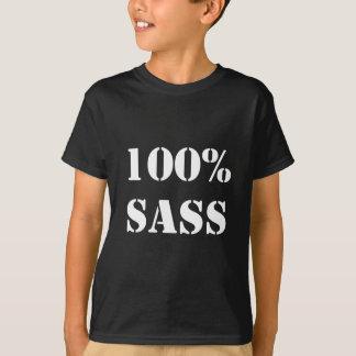100% Sass - weiße Schablone T-Shirt