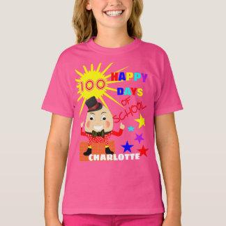 100 Tage Schulspaß Humpty Dumpty personalisiert T-Shirt