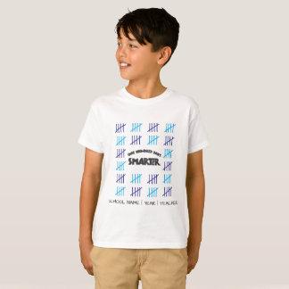 100 Tagesintelligenteres hundert T-Shirt